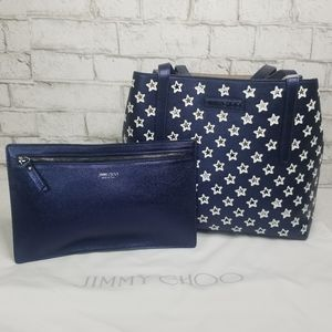 🆕️💥Metallic Star Perforated Tote and Wristlet